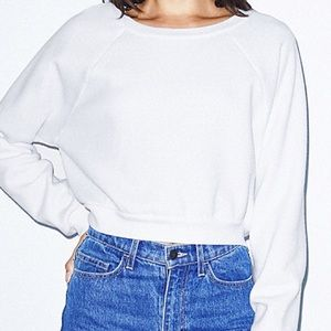 American Apparel crop white sweatshirt